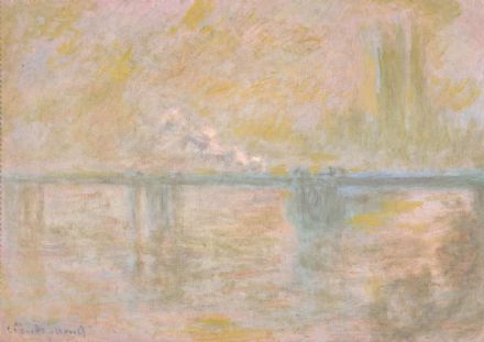 Monet, Claude: Charing Cross Bridge in London. Fine Art Print/Poster. Sizes: A4/A3/A2/A1 (004075)